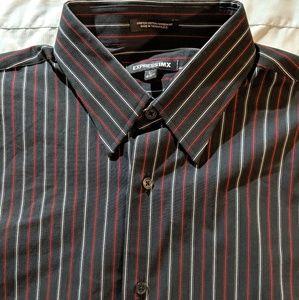 Express 1MX mens large button down shirt